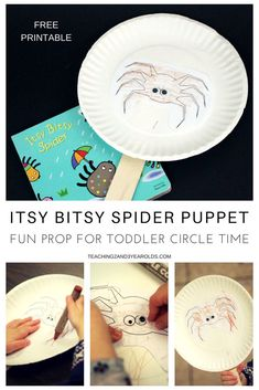 After reading Itsy Bitsy Spider, invite your toddlers to make their own simple spider puppets. Use them during your circle time while singing spider songs.