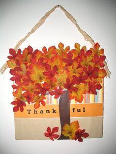 Thanksgiving decorations - love it!