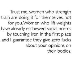 Be a strong woman