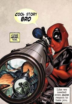 Fun Fact: Deadpool was actually made as a joke version of Deathstroke. He was just intended to be a joke but then tons of people started to love Deadpool and he then became a huge Marvel Character Comic Book Characters, Marvel Characters, Comic Character, Comic Books Art, Comic Art, Book Art, Marvel Comics, Marvel Art, Animé Fan Art