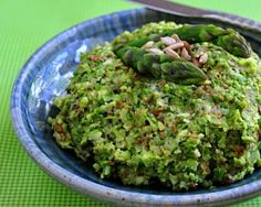 Asparagus Tapenade, a thick, nutty asparagus spread. Low carb, Weight Watchers friendly.