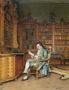 The bibliophile, JOHANN HAMZA 1880s