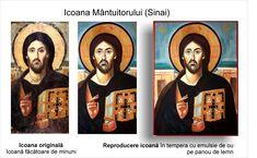Mântuitorul Sinai copie icoană pe lemn Iisus din Sinai reproducere pictură tradițională bizantină  ortodoxă icoană originală lucrare de artă iconografică pictură în tempera pe lemn pictată de pictorul Călin Bogătean un urmaș al vechilor iconari pictor profesionist membru al Uniunii Artiștilor Plastici icoană pe lemn cu Iisus pictură pe lemn cu Mântuitorul Iisus Hristos din Sinai Mona Lisa, Baseball Cards, Artist, Artwork, Work Of Art, Artists