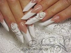 Súper cute edge french acrilic nails
