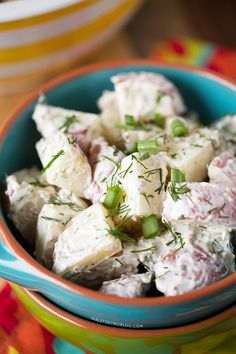 Healthy Red Potato and Dill Salad | tablefortwoblog.com