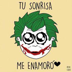Ilustracion inspirada en The Joker de Irene Calvo