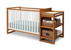 dream crib from Babys R us! Grows with the baby to toddler and on!