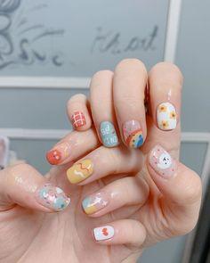 Cute Nail Art, Cute Nails, Pretty Nails, Shellac Nails, Acrylic Nails, Japan Nail Art, Soft Nails, Nail Art Designs Videos, Kawaii Nails