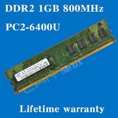 Lifetime warranty For samsung DDR2 1GB 800MHz PC2-6400U 800 DDR 2 1G desktop memory