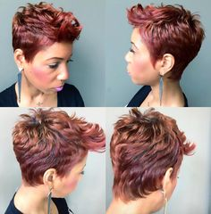 Love this color via @thelivingroomhairlounge - http://community.blackhairinformation.com/hairstyle-gallery/short-haircuts/love-color-via-thelivingroomhairlounge/