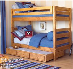 canyon creek twin over twin bunk bed with trundle costco 10914 | f9a7ef54100382ad3e250d8b85f83c81 bunk bed rooms boy bunk beds