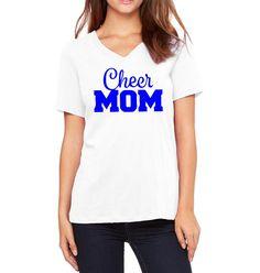 Cheer Mom Shirt, Blue Cheer Mom Shirt, Cheerleading Mom