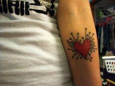 tim burton voodoo heart tattoo: http://fyeahtattoos.com/page/8