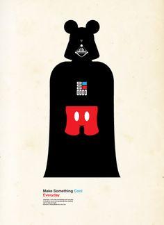 Star Wars Mickey - it's scary where this merger may take us. Walt Disney Co, Disney Love, Funny Disney, Disney Magic, Disney Humor, Dark Disney, Disney Theme, Disney Cruise, Star Wars Disney