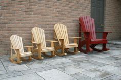 Family sized Adirondack Rocking Chair Plans - DWG files for CNC machines