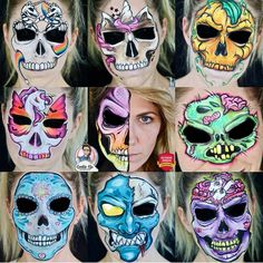 Face Painting Supplies, Face Painting Tips, Face Painting Designs, Halloween 2019, Halloween Make Up, Halloween Ball, Halloween Face Paint Designs, Professional Face Paint, Special Effects Makeup