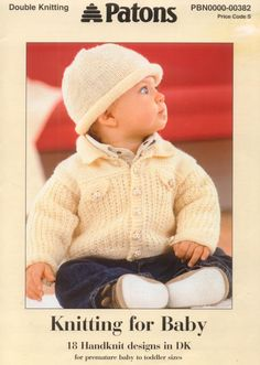 Knitting Patterns Boy Patons 382 Knitting for Baby