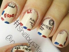 Postage Stamp Nails