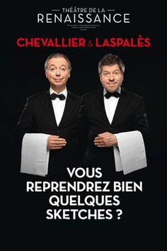 « Le théâtre, c'est bien. Les sketches, c'est bien aussi ! On est comme Joséphine Baker : on a deux amours. Oscillant de l'un aux autres, indifféremment, avec le même plaisir, pourvu qu'on en donne au public ! »  Retrouvez ce duo incontournable à l'Olympia.