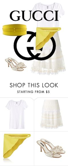 """""""Skirt Lace"""" by coconoirchanel on Polyvore featuring moda, H&M, Nina Ricci, Gucci, Zadig & Voltaire e Louis Vuitton"""