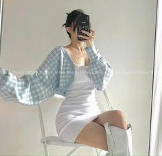 Kpop Fashion Outfits, Korean Outfits, Girly Outfits, Cute Casual Outfits, Pretty Outfits, Korean Girl Fashion, Cute Fashion, Look Fashion, Mein Style