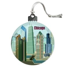 Chicago Hancock Building Willis Tower Acrylic Christmas Tree Ornament Chicago Map, Chicago Hotels, Chicago Restaurants, Chicago Christmas Tree, Christmas Photos, Winter Christmas, Christmas Tree Ornaments, Christmas Decorations, Willis Tower