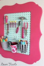 Turn Frames into Organizers - Genius Ways to Organize Craft Supplies