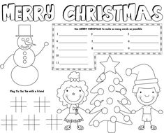 With These Free Printable Christmas Placemats Of Course