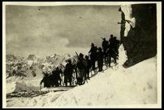 Ricognizione di Alpini skiatori