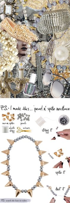 P.S.- I made this...Pearl n' Spike Necklace #PSIMADETHIS #DIY