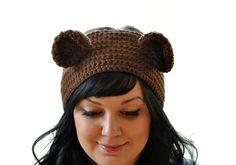 Teddy Bear Crocheted Winter Headband  Pick your by susannahbean