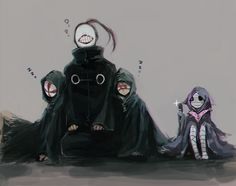 Tokyo Ghoul - Bin Brothers, Noro, and Eto.