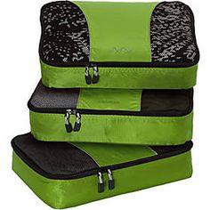 Seamless Football Pattern 3 Set Packing Cubes,2 Various Sizes Travel Luggage Packing Organizers t