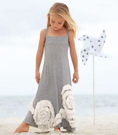 swirly ruffles maxi dress must figure out how to do those draping ruffle flowers!!