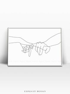 Pinky Swear Printable One Line Drawing Print Black White Hands Artwork Hand Poster Original Minimalist Couple Art Minimal Fine Decor Aesthetic Couple, Art Couple, Art Minimaliste, Minimal Art, Art Mur, Hand Lines, Minimalist Drawing, Minimalist Artwork, Continuous Line Drawing