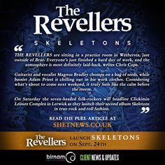 Shetland News have published an article on The Revellers, ahead of the launch of their new album Skeletons this Saturday. Read the full article here: http://www.shetnews.co.uk/features/13316-revellers-get-the-skeletons-out-of-the-closet-on-second-album