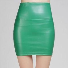 Faux PU Leather Skirt high waist party clothing short pencil skirts