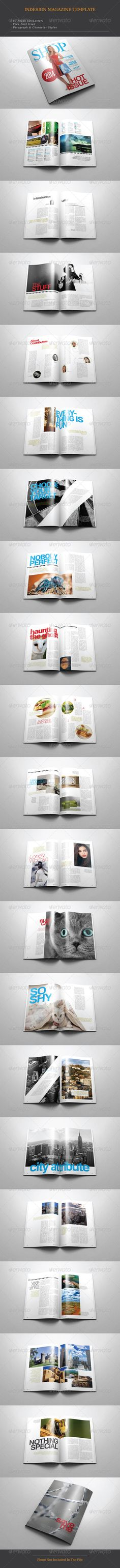 A4/Letter Shop Magazine Template by thirtypath FEATURES :40 pages (A4 & Letter) Paragraph Style Character Style Free Font Used Print Ready with Bleed Easy to Edit (Color, Text,