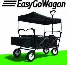 Easy Go Wagon Folding Collapsible Utility Wagon Black Canopy Sturdy Garden Cart Kids Store, Toy Store, Folding Wagon, Kids Wagon, Kids Yard, Wheelbarrow Garden, Garden Cart, Little Tikes, All Toys