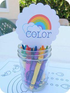 "Photo 52 of 71: Rainbow / Birthday ""Savannah's Over the Rainbow 6th Birthday!"" | Catch My Party"