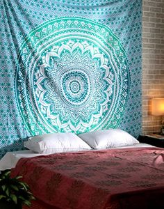 Turquoise Mandala Tapestry hippie Tapestries Boho Bohemian Indian Wall Hanging By Rajrang * Check out the image by visiting the link.