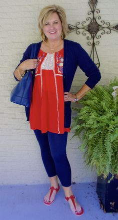 50 IS NOT OLD | YOU DON'T HAVE TO GET ALL DOLLED UP EVERYDAY | Run around town outfit | Tunic and leggings | Fashion over 40 for the everyday woman