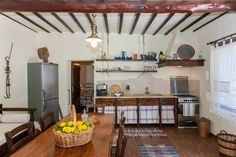 Gramvousa traditional house Holiday Traditions, Crete, Traditional House, Kitchen, Table, Room, Furniture, Home Decor, Bedroom