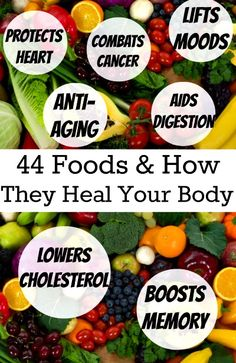 When we eat fruits, vegetable yogurt and nuts we know that they're healthier for us than some other foods. But did you ever wonder how individual fruits, veggies and other foods specifically help our health?Erin was curious about this and compiled an amazingly helpful list of 44 foods. For each fr…