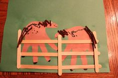 H is for Horse handprint craft.  E will <3 this!