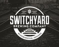 Elyse Myers Design - Indianapolis Graphic Design Switchyard Logo #brewerylogo #beer #beerlogo #logo