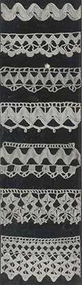 "Vintage Crochet and Ric Rac Edgings • this site has the complete copy of ""Nufashond Rick Rack Book Volume 2"". All 21 pages can be downloaded."