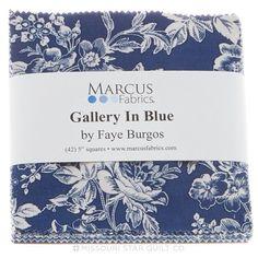 Gallery in Blue Charm Pack - Faye Burgos - Marcus Fabrics