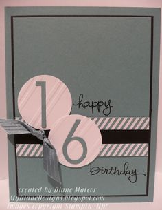 Perfect Print Wishes - http://mydianedesigns.blogspot.com/, Endless Birthday Wishes, Perfect Print Numbers, Stampin' Up!