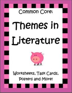This 67 page Themes in Literature Unit by the Teacher Next Door is complete and ready to teach! Your students will get plenty of practice identifying themes in a variety of formats as it includes 6 literature passages (front and back with many paired passages) including Aesop's Fables, Folktales from Around the World, Legends and Myths, a set of 32 task cards, handouts, graphic organizers, a picture book list and 20 common theme posters. $